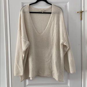 Off White Oversized V-Neck sweater